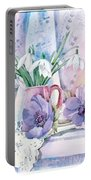 Snowdrops And Anemones Portable Battery Charger