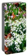 Snowdrops And Crocuses Portable Battery Charger