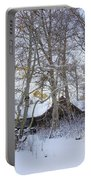 Snowed Cabin Portable Battery Charger