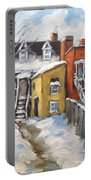 Snowed In Yards By Prankearts Portable Battery Charger