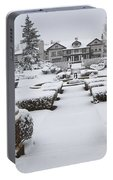 Snowfall At Longview Mansion Portable Battery Charger