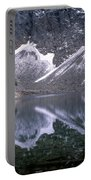 Snowfield Reflection On Blue Lake  Portable Battery Charger