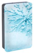 Snowflake In Snow Portable Battery Charger