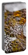 Snowflake On Rust Portable Battery Charger