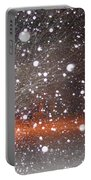 Snowflakes And Orbs Portable Battery Charger