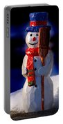 Snowman By George Wood Portable Battery Charger