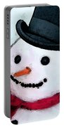 Snowman Christmas Art - Frosty Portable Battery Charger
