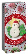 Snowman Cookie Plate Portable Battery Charger