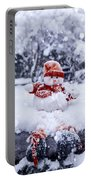 Snowman Portable Battery Charger by Joana Kruse