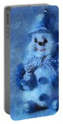 Snowman Merry Christmas Photo Art 01 Portable Battery Charger