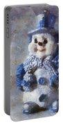 Snowman Peace Photo Art 01 Portable Battery Charger