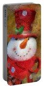 Snowman Photo Art 19 Portable Battery Charger