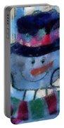 Snowman Photo Art 34 Portable Battery Charger