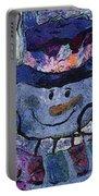 Snowman Photo Art 35 Portable Battery Charger