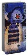 Snowman Photo Art 44 Portable Battery Charger