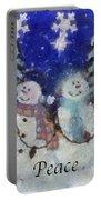 Snowmen Peace Photo Art Portable Battery Charger