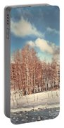 Snowy Aspens  Portable Battery Charger
