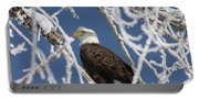 Snowy Bald Eagle Portable Battery Charger