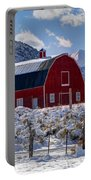 Snowy Barn In The Mountains - Utah Portable Battery Charger