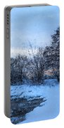 Snowy Beach Impressions Portable Battery Charger