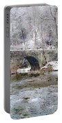 Snowy Bridge Along The Wissahickon Portable Battery Charger