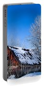 Snowy Cabin Portable Battery Charger