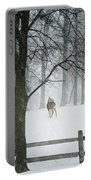 Snowy Deer Portable Battery Charger