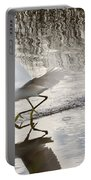 Snowy Egret Gliding Across The Water Portable Battery Charger