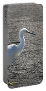 Snowy Egret Walk Portable Battery Charger