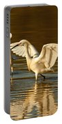 Snowy Egret Wingspan Portable Battery Charger
