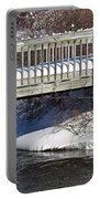Snowy Foot Bridge Portable Battery Charger