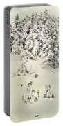 Snowy Forest Vintage Portable Battery Charger