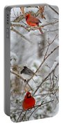 Snowy Grace Cardinals Portable Battery Charger