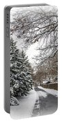 Snowy Lane Portable Battery Charger