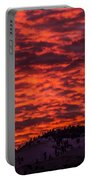 Snowy Mountain Sunset Portable Battery Charger
