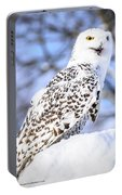 Snowy Owl Look Out Portable Battery Charger