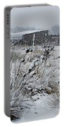 Snowy Pasture Portable Battery Charger by Melany Sarafis
