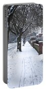 Snowy Path Portable Battery Charger by Tom Gowanlock