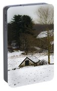 Snowy Pennsylvania Farm Portable Battery Charger