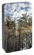 Snowy Pines With Sunflair Portable Battery Charger