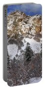 Snowy Ridge Above Bell Canyon - Wasatch Mountains - Utah Portable Battery Charger
