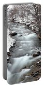 Snowy River At Mt. Hood Portable Battery Charger
