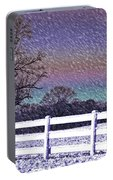 Snowy Snowy Night  Portable Battery Charger