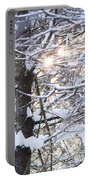 Snowy Sunbursts Portable Battery Charger