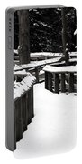 Snowy Walkway Portable Battery Charger