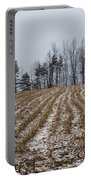 Snowy Winter Cornfields Portable Battery Charger