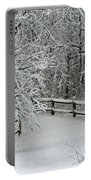 Snowy Winter Portable Battery Charger