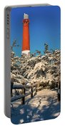 Snowy Woods At Barnegat Light Portable Battery Charger