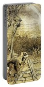 So Nobody Can Quite Explain Exactly Where The Rainbows End Portable Battery Charger by Arthur Rackham