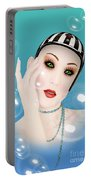 Soap Bubble Woman  Portable Battery Charger